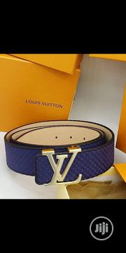 Original Louis Vuitton Synthetic Leather Belt Blue | Clothing Accessories for sale in Lagos State, Surulere