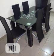 Quality Glass Dining Table by 6 | Furniture for sale in Kano State, Kano Municipal