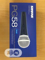 Shure Pg58 Cardioid Dynamic Wired Microphone | Audio & Music Equipment for sale in Lagos State, Ojo