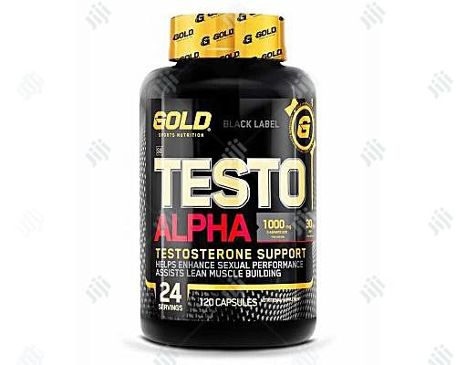 Gold Sports Nutrition Testo Alpha Testosterone Support 120 Capsules in Lagos State - Sexual