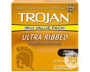 Trojan Stimulations Ultra Ribbed Lubricated Condoms, 36ct | Sexual Wellness for sale in Lagos State