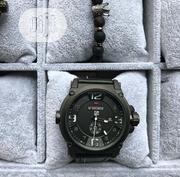 Black Naviforce Men's Leather Watch | Watches for sale in Lagos State, Agboyi/Ketu