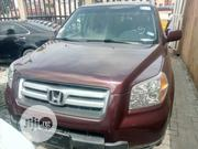 Honda Pilot 2007 EX-L 4x4 (3.5L 6cyl 5A) Red | Cars for sale in Lagos State, Isolo