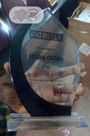 Crystal Award With Printing | Arts & Crafts for sale in Lagos State, Surulere