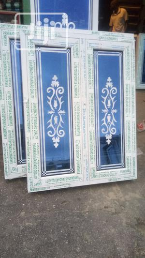 Casement Window With Designed Glass