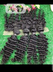 Mongolian Deep Wave Wit Frontal   Hair Beauty for sale in Lagos State, Yaba