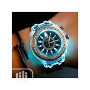 Luminous Colorful Rhinestone Led Watch Silicone | Watches for sale in Lagos State, Agege