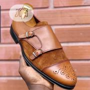 Handmade Double Monk Strap Suede And Leather Shoe   Shoes for sale in Lagos State, Amuwo-Odofin