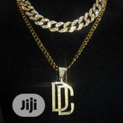 Choker Iced Cuban Link + Dream Chaser Pendant Chain | Jewelry for sale in Lagos State, Lagos Island