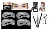 4 Eyebrow Stencils and Eye Pencil With Brush | Makeup for sale in Lagos State, Surulere