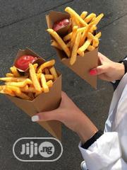 Kraft Paper Fries Pack With Ketchup Pouch-50pcs | Manufacturing Materials & Tools for sale in Lagos State, Surulere
