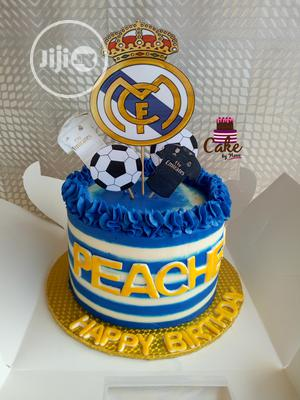 Astounding Real Madrid Birthday Party Cake In Lagos State Party Catering Funny Birthday Cards Online Elaedamsfinfo