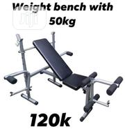 Weight Lifting Bench With 50kg Barbell | Sports Equipment for sale in Sokoto State, Gwadabawa
