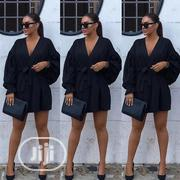 Deep V-Neck Loose Mini Black Dress | Clothing for sale in Rivers State, Port-Harcourt
