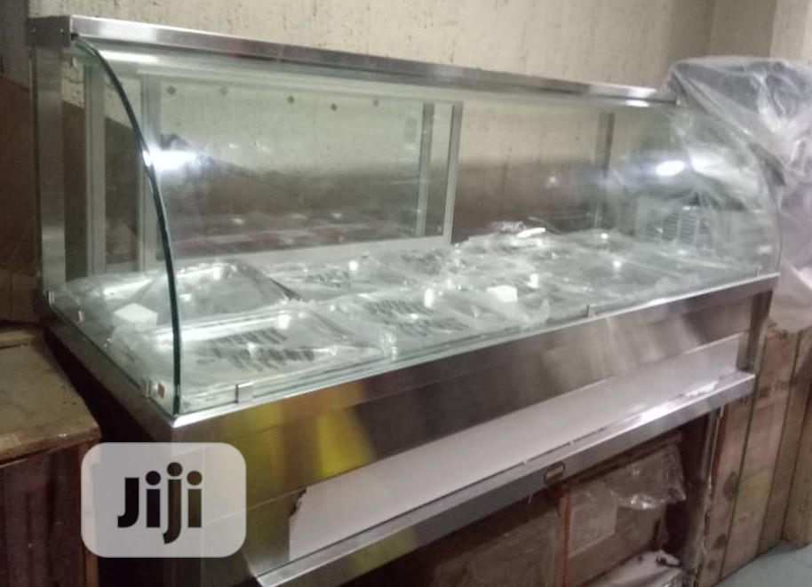 Bain Marie With Curved Glass