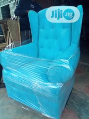 Rocking Chair With Ottoman Made With A Velvet Fabric Material | Furniture for sale in Lagos State, Alimosho
