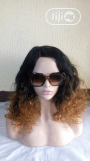 Three Colour Ombre Wig (Curly)   Hair Beauty for sale in Lagos State, Surulere