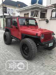 Jeep Wrangler 2000 2.5 Red   Cars for sale in Lagos State, Lekki Phase 2
