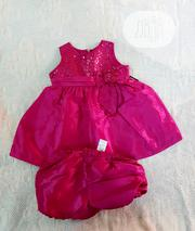 Jayne Copeland Fuschia Pink Baby Girl 2 Pc Dress for Special Occassion | Children's Clothing for sale in Lagos State, Victoria Island
