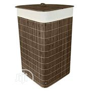 ASAB Collapsible Bamboo Laundry Basket With Lid | Home Accessories for sale in Lagos State, Ifako-Ijaiye