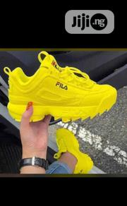 Unisex Yellow Fila Sneakers | Shoes for sale in Lagos State, Lagos Island