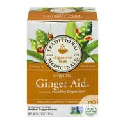 Traditional Medicinals Organic Ginger Aid Tea - 16 Tea Bags | Vitamins & Supplements for sale in Lagos State, Lekki Phase 1