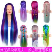 Rainbow Head Model Braiding Hair Wig | Hair Beauty for sale in Lagos State, Lekki Phase 1