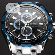 HOT CURREN Top Brand Quartz Analog Military Male Watch   Watches for sale in Lagos State, Ikeja