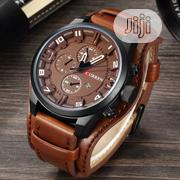 CURREN Quartz Military Watch With Luxury Leather Sports Date Watch. | Watches for sale in Lagos State, Ikeja