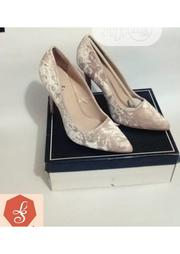 Qupid Nude Velvet Pump /Heel | Shoes for sale in Lagos State