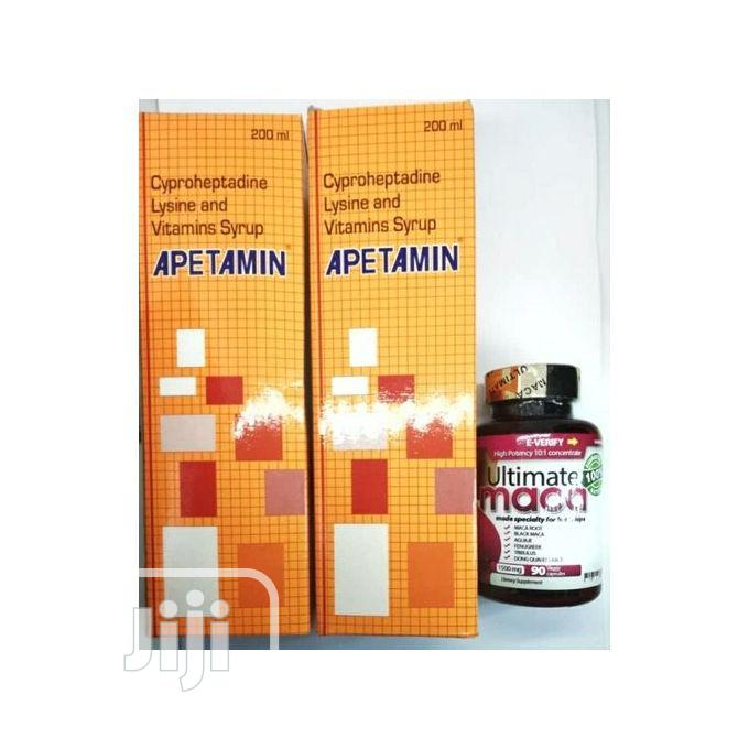 2 Apetamin and Ultimate Maca Pills for Curvy Weight Gain