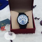KM Black Leather Male Wristwatch   Watches for sale in Lagos State, Ajah