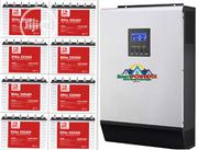Hybrid 5kva 48v Inverter Installation With 220ah Tubular Batteries | Building & Trades Services for sale in Abuja (FCT) State, Central Business Dis