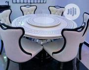 Round Royal Marble Dining Table With 6 Chairs   Furniture for sale in Lagos State, Ojo