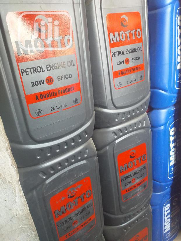 Best Quality 25litres 20W50 MOTTO Petrol Engine