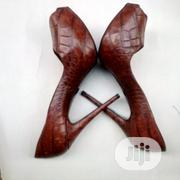 Brown Leather Authentic Designer Pumps | Shoes for sale in Lagos State, Ikeja