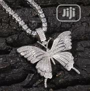 Iced-Out Butterfly Pendant With a Tennis Chain | Jewelry for sale in Lagos State