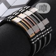 Men's Stainless Steel Silicone Bracelet Jewelry For Men(Comes In A Box | Jewelry for sale in Lagos State, Victoria Island