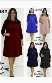 New Female Collar Long Sleeve Short Gown | Clothing for sale in Lagos State, Ikoyi
