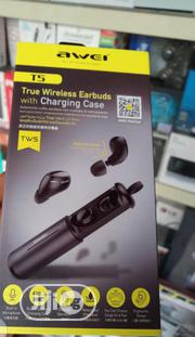 Awei Tws T5 Wireless Buds   Headphones for sale in Lagos State, Ikeja