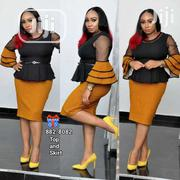 Turkey Pepllon Blouse Skirt   Clothing for sale in Lagos State, Victoria Island