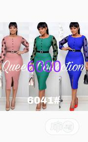 New Beautiful Female Long Sleeve Straight Gown | Clothing for sale in Lagos State, Ikeja