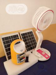 Rechargable Table Fan With MP3 Solar Light Kits/ Power Bank | Solar Energy for sale in Edo State, Benin City