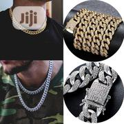 Fashion Hip Hop Cuban Links Chains Silver Necklace Male Gold Plated | Jewelry for sale in Lagos State