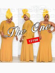 New Quality Female Yellow Long Gown | Clothing for sale in Lagos State, Victoria Island