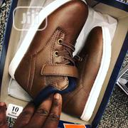 Children Kids Boys Classic Unique Brown High Top Sneakers | Children's Shoes for sale in Lagos State, Ikeja