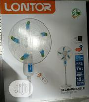 18inches Lontor Solar Rechargeable Fan With Solar Panel | Solar Energy for sale in Lagos State, Ojo