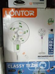 16inches Lontor Solar Rechargeable Fan With Solar Panel | Solar Energy for sale in Lagos State, Ojo
