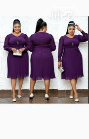 New Turkey Female Quality Purple Flare Dress | Clothing for sale in Lagos State, Lagos Island