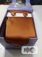 Set Of Beige Designers Corporate Tie With Cufflinks | Clothing Accessories for sale in Lagos State, Victoria Island